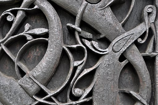 Ornament, Relief, Carving, Wood, Church, Celtic
