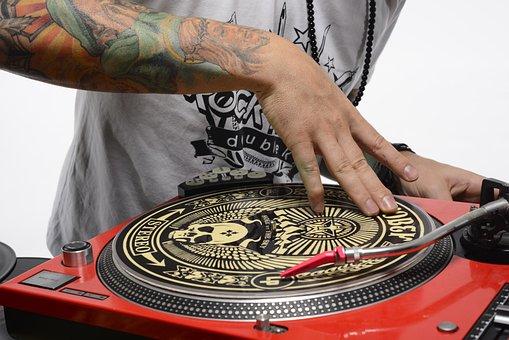 Dj, Turntable, Scratch, Hip Hop, Culture, Hand, Tattoos