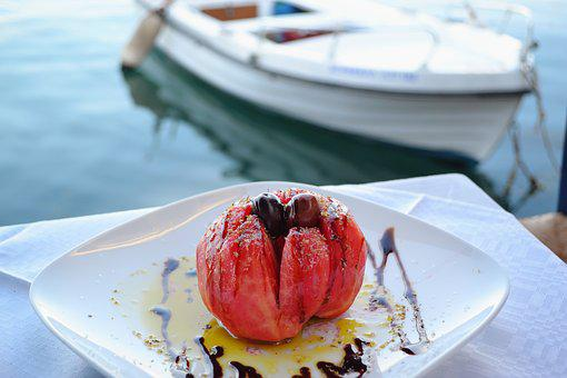 Tomato Salad, Food By The Sea, Food With A View