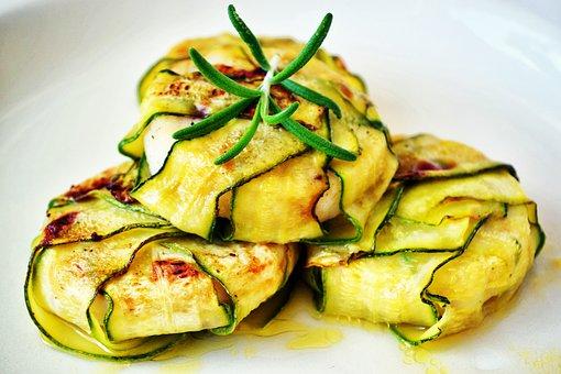 Zucchini Wraps, Zucchini Slices, Food