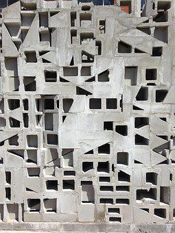 Bricks, Cinder Blocks, Block, Material, Building