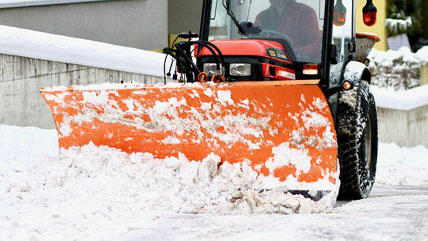Snow Plowing, Plough, Tractor, Snow, Winter, Clearance