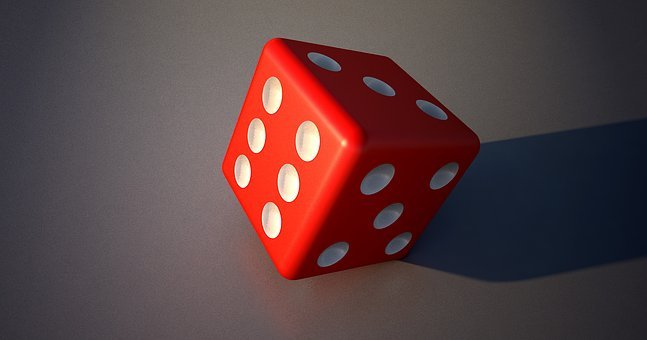 Cube, Play, Random, Luck, Red, Points, Numbers Eyes