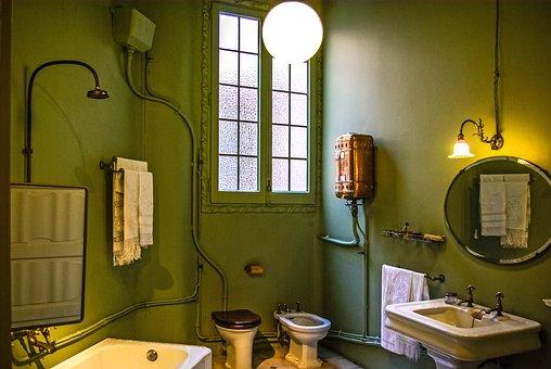 Casa Mila, Gaudi, Bathroom, Interior, Architecture