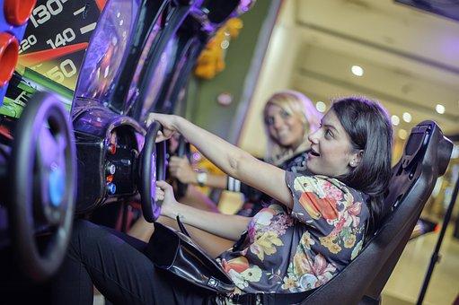 Girls, Game Automat, Drive, Simulator, Playing