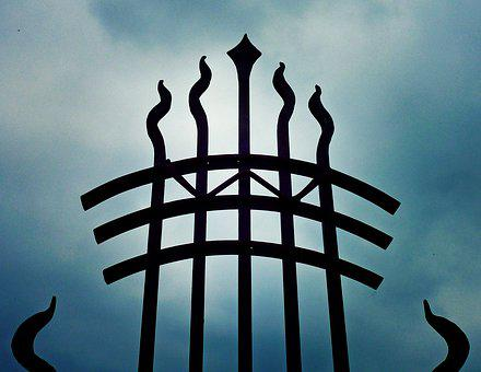 Goal, Grid, Metal, Input, Iron Railings, Ornament, Sky