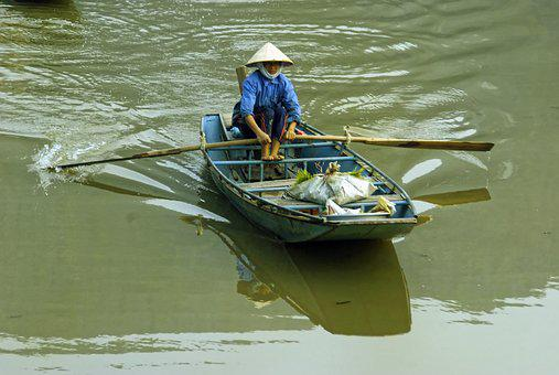 Viet Nam, Boat, Grocery, Saleswoman, Can - Tho