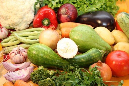 Vegetables, Food, Healthy, Onion, Potatoes, Fast Food