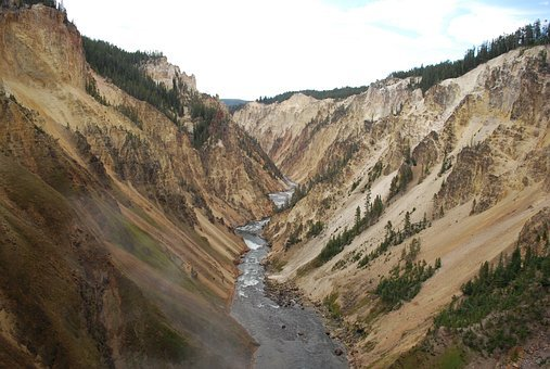 Yellowstone, Beautiful Landscape, Canyon, National