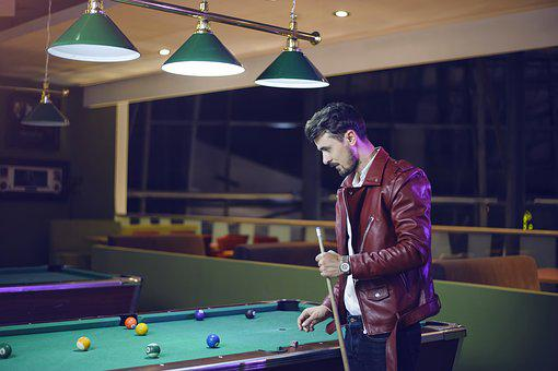 Guy Playing Billiard, Pool Table, Men, Arcade Games