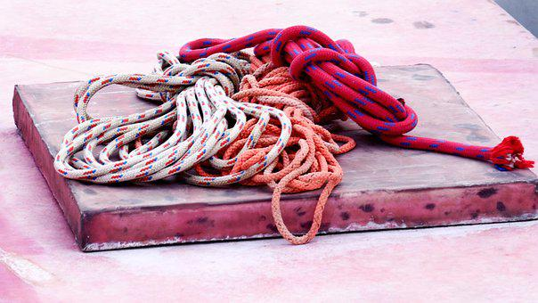 Ropes, Knot, Fishing Ropes, Deck Details, Red, White