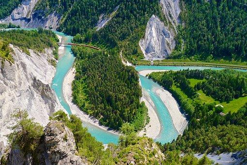 Rhine, Gorge, Rhine Gorge, River, Alpine, Mountains