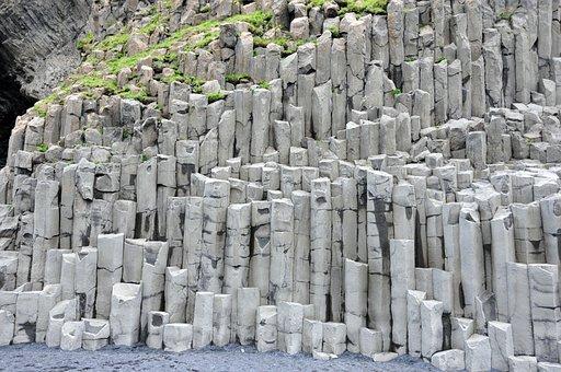 Iceland, Vik, Stone Column, Cliff, Basalt, Rock, Stone