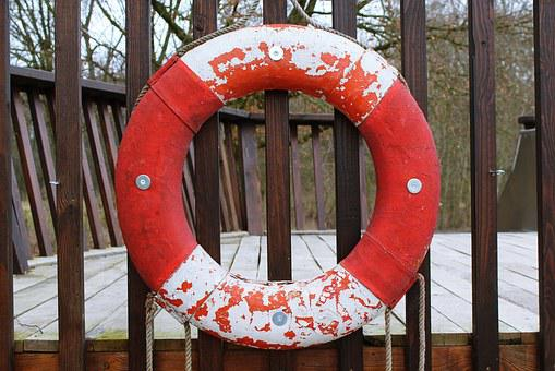 Lifebelt, Mature, Drowning, Rescue, Water Rescue, Swim