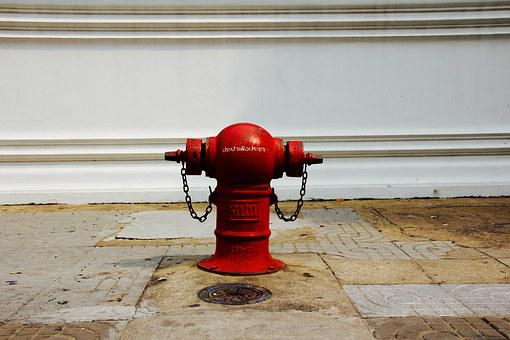 Fire Extinguisher, Hydrant, Water, Fire, Metal