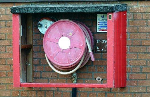 Fire Hose, Emergency, Fire, Hose, Water, Danger, Rescue