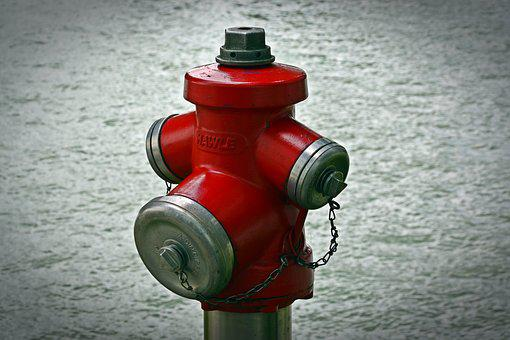 Hydrant, Water, Red, Fire, Metal, Water Hydrant, Delete