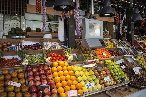 Greengrocers, Fruit, Scale, Market, San Miguel Market