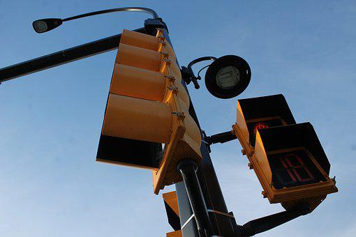 Traffic Lights, Road Sign, Street Lamp, Signal