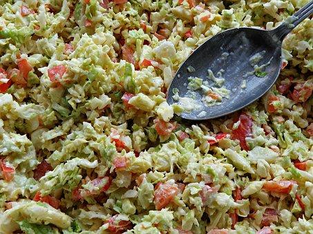 Salad, Pig Iron, Kale, Vegetables, Luncheon, Vitamins