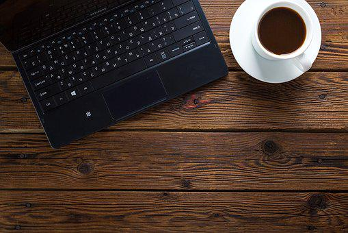 Notebook, Coffee, Table, Work, Office, Computer, Laptop
