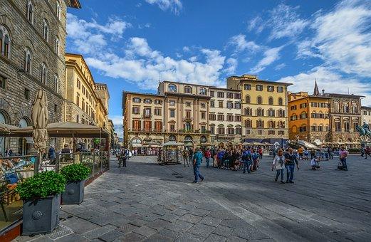 Florence, Italy, Piazza, Cafe, Italian, Renaissance