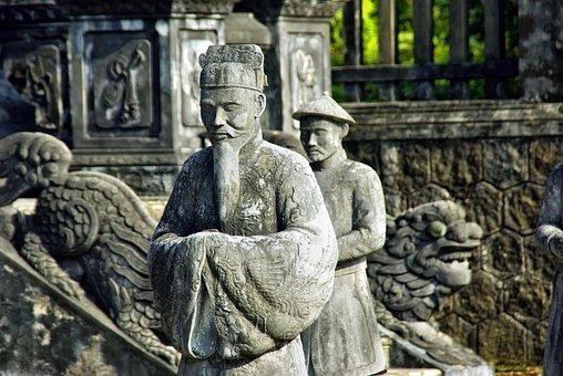 Viet Nam, Booed, Statue, Servant, Tomb, Imperial