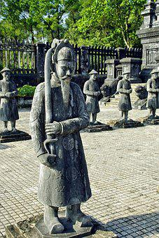 Viet Nam, Booed, Statue, Letter, Tomb, Imperial