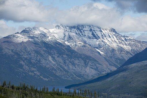 Glacier National Park, Clouds, Mountain, Landscape