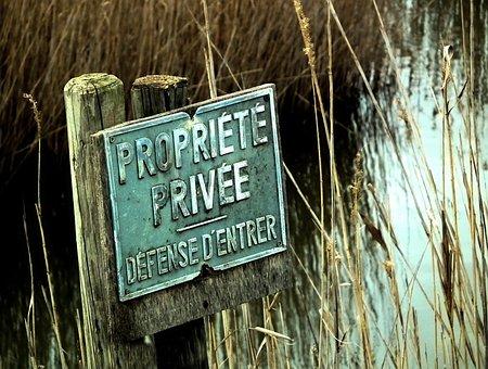 Panel, Forbidden, Private, Pond