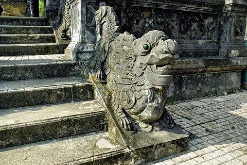 Viet Nam, Booed, Statue, Pilaster, Tomb, Imperial