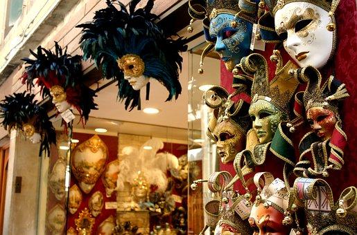 Masks, Venetian, Venice, Venetian Mask, Venezia