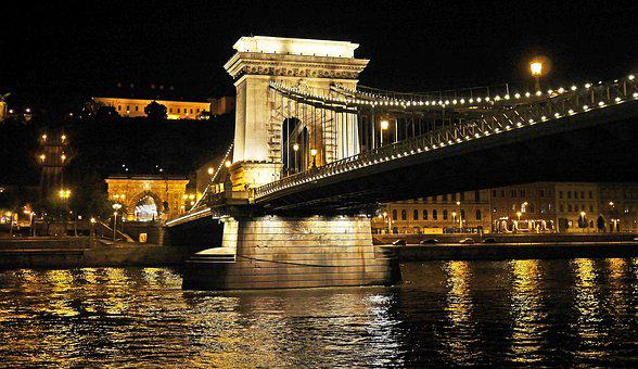 Budapest At Night, Chain Bridge, Burgberg Tunnel