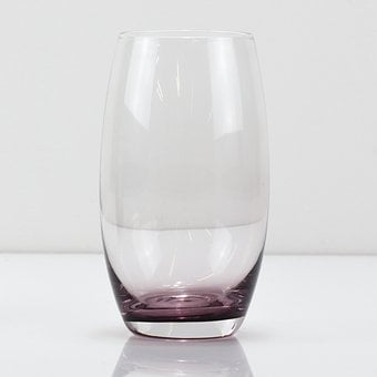 Glass, Cup, Drink, Empty, Empty Glass, Purple, Red