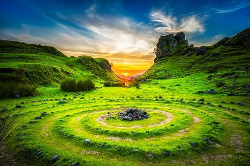 Isle Of Skye, Scotland, Sunset, Dusk, Beautiful