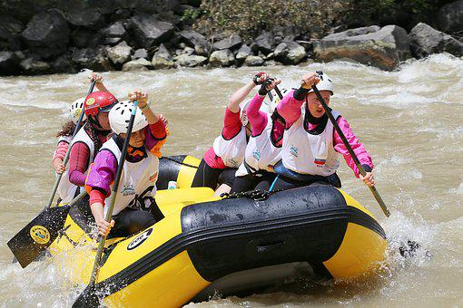 Georgia, Rafting, Sports, Borjomi, River, Alloy, Kura
