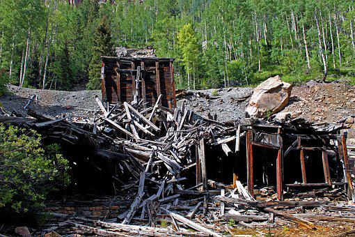 Old Mine, Abandoned, Collapsed, Colorado, Mine, Old