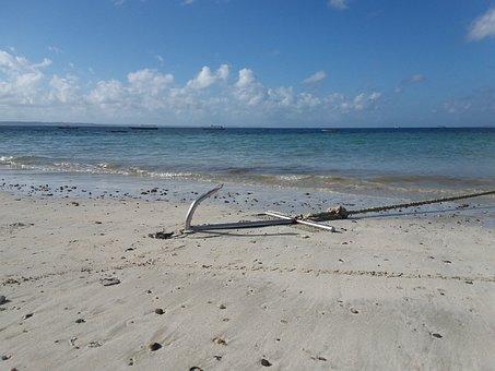 Beach, Mar, Anchor, Beira Mar, Sand, Nature
