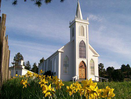 Church, Bodega, Steeple, California, Historic, Religion