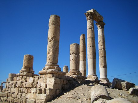 Amman Citadel, Amman, Citadel, Ancient, Architecture