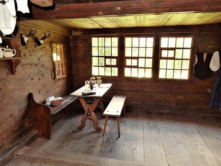 Farmhouse, Living Room, Room, Historically, Nostalgia