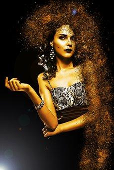 Woman, Elegant, Movement, Fashion, Jewellery, Hair