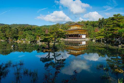 Golden, Pavilion, Japan, Kyoto, Temple, Kinkakuji