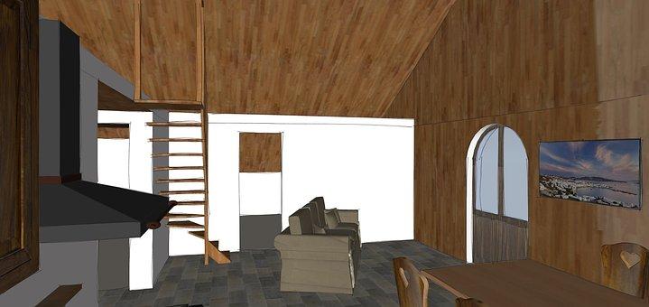 Living Room, Wood, Kitchen