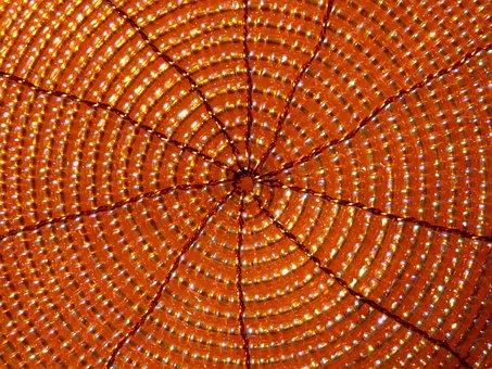 Circles, Accounts, Decoration, Orange, Mat