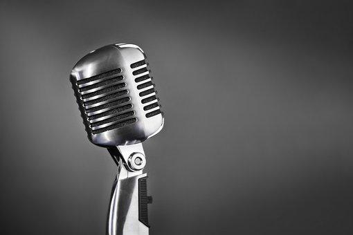 Microphone, Retro, Style, Radio, Sound, Reportage, Old