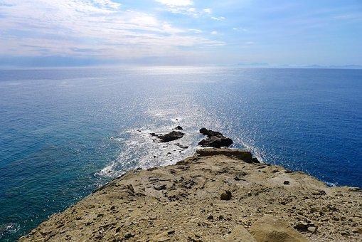 Sea, Infinite, Wide, Ocean, Water, Loneliness, Greece
