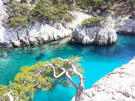 Creeks, Sea, Marseille, Blue, France, Creek