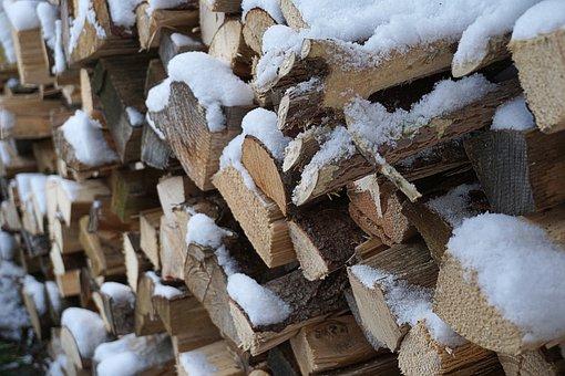 Wood, Snow, Winter, Nature, Log, Precipitated Wood