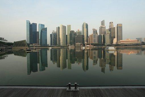 Cbd, Centralbusinessdistrict, Singapore, Lake, Marina